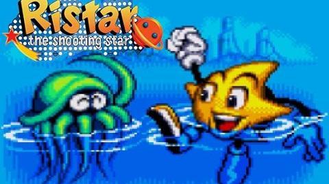 Ristar - Round 2 Planet Undertow Gameplay