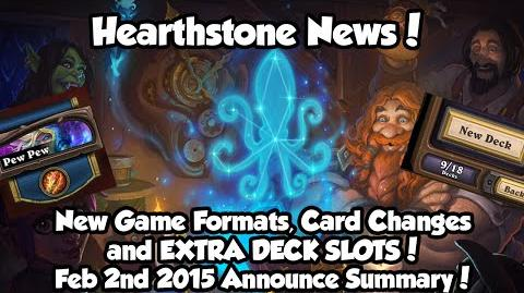 Hearthstone New Game Modes, Formats and Extra Deck Slots News! Feb 2016