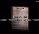 Extracto del informe Wesker sobre el plan Tyrant
