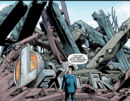 Luthor standing in front of the ruins of his old building.jpg