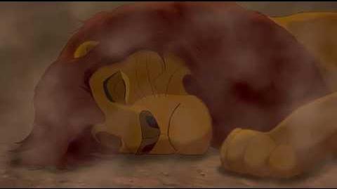 El rey león - Muerte de Mufasa