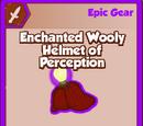 Enchanted Wooly Helmet of Perception