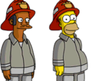 Fireman Apu and Fireman Homer