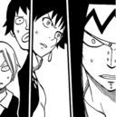 Max, Warren, Mest and Gajeel surprised about Fairy Heart.png