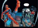 Peter Parker (Tony Richards) (Earth-616) and Cindy Moon (Jessica Drew) (Earth-616) from Amazing Spider-Man & Silk- The Spider(fly) Effect Infinite Comic Vol 1 1 001.jpg