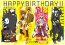 Arakune, Makoto Nanaya, Kokonoe, and Hazama (Birthday Illustration, 2013).jpg