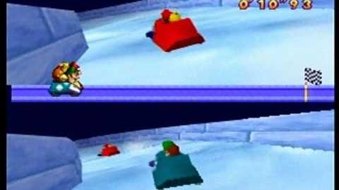 Mario Party- 2 vs. 2 Minigame - Bobsled Run