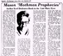 Mason 'Mothman Prophecies' Author Keel Deicates Book to the Late Mary Hyre