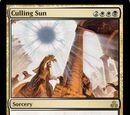 Culling Sun