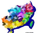 大越行政区划