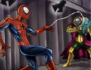 Peter Parker (Earth-TRN579) Vs. Quentin Beck (Earth-TRN579) from Spider-Man Shattered Dimensions 001.jpg