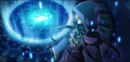 Relius Clover (Centralfiction, arcade mode illustration, 2).png