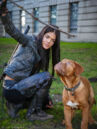 S3 BTS Marie Avgeropoulos and chewy.jpg