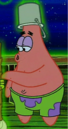Patrick with a Ghost Bucket on His Head.png