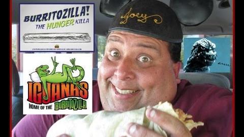 "Iguanas Burritozilla vs. Joey...""It's a Thrilla!"""