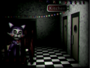 Cindy in the main party room closed FNAC.png