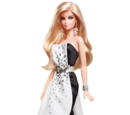 Black and White Collection Beaded Gown Barbie Doll