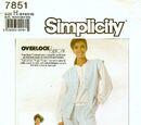 Simplicity 7851 B