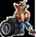 Crash Tag Team Racing Crash Bandicoot with Tires.png