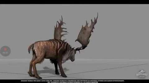 Jurassic World The Game Megaloceros Sneak Peek!