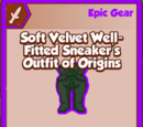 Soft Velvet Well-Fitted Sneaker's Outfit of Origins