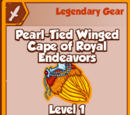 Pearl-Tied Winged Cape of Royal Endeavors (Legendary)