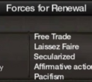 Forces for Renewal