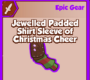 Jewelled Padded Shirt Sleeve of Christmas Cheer