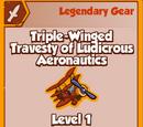 Triple-Winged Travesty of Ludicrous Aeronautics