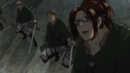 Hange watches Mikasa attack the Armored Titan.png