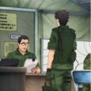 Major Wataru Higaki orders Itami to command Third Recon Team Anime episode 2.png
