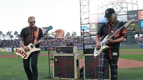 Kirk & James Perform the National Anthem (2017 Metallica Night w the SF Giants)