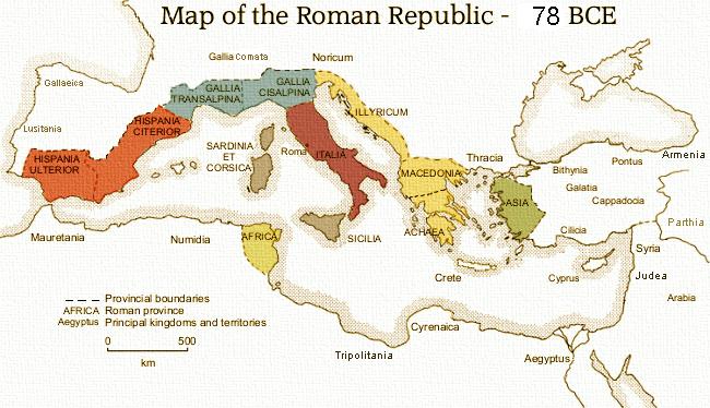 Roman Republic Map The Roman Republic   History of Rome Zach Roman Republic Map