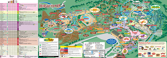Map Of Hershey Park Hersheypark | Roller Coaster Wiki | FANDOM powered by Wikia