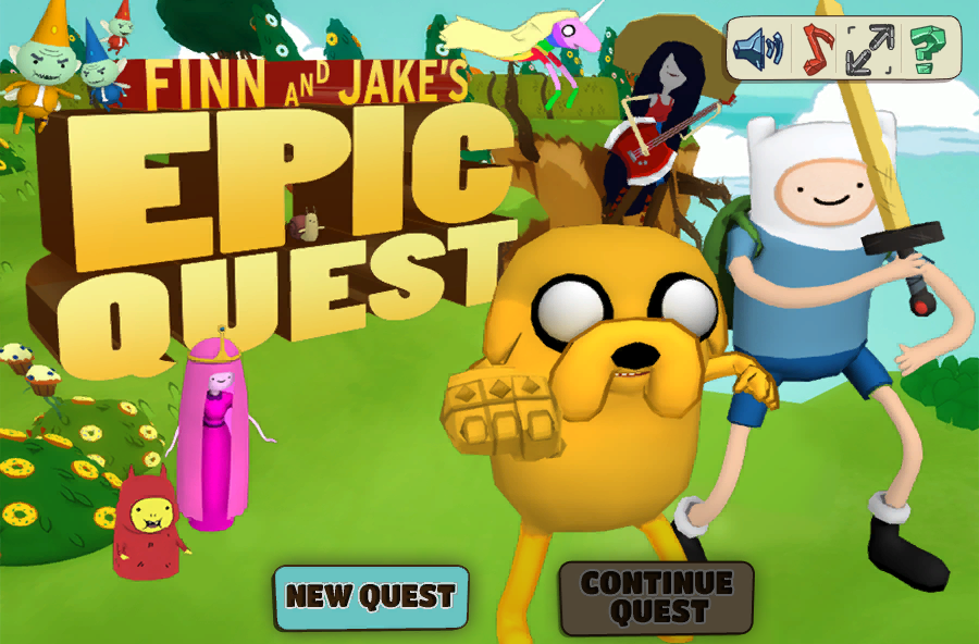 Jogo Adventure of Epic Finn and Jake Online Gratis