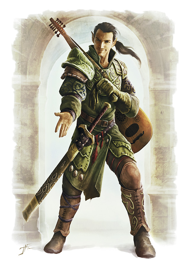 A fantasy role playing Bard