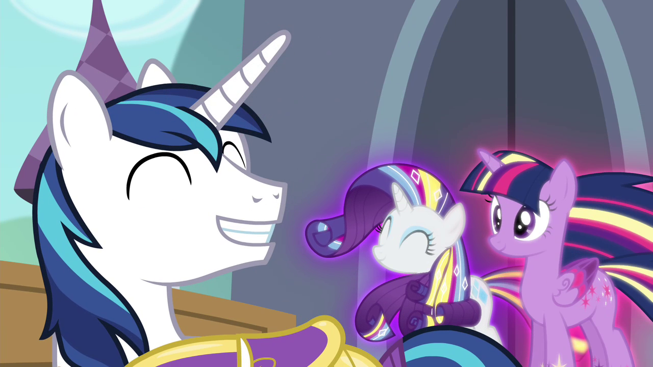 Image - Shining Armor smiling S4E26.png - My Little Pony ...